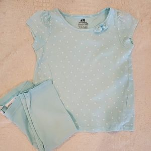 4for$20!! H&M baby girls 2pc outfit size 1-2